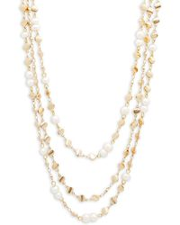 Panacea Multi-strand Beaded Necklace - Metallic