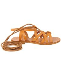 Cocobelle Cleo Leather Sandal - Brown
