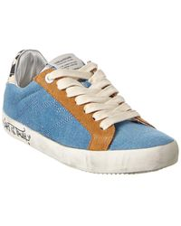 Zadig & Voltaire Used Jean & Leather Trainer - Blue