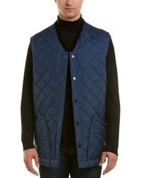 Burberry Diamond Quilted Gilet - Blue