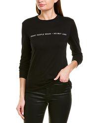 Helmut Lang Graphic T-shirt - Black