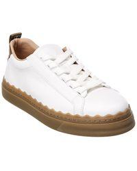 Chloé Lauren Leather Sneaker - White