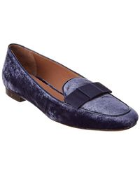 Tabitha Simmons Miny Rose Velvet Loafer - Blue