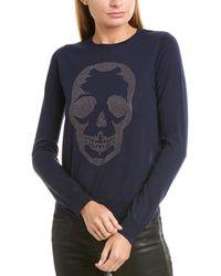 Zadig & Voltaire Miss Skull Studs Wool Sweater - Blue