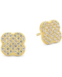 Freida Rothman - 14k Vermeil Plated Post Earrings - Lyst