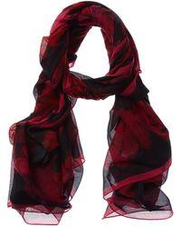 Alexander McQueen Silk-blend Scarf - Red