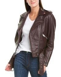 Walter Baker - Allison Leather Moto Jacket - Lyst