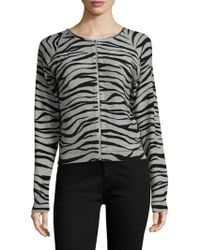 Tracy Reese - Intarsia Cotton Cardigan - Lyst