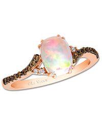Le Vian ? 14k Rose Gold 0.83 Ct. Tw. Diamond & Opal Ring - Multicolour