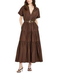 Nicholas Amina Silk-blend Dress - Brown