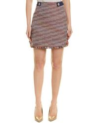 Laundry by Shelli Segal Boucle Skirt - Blue