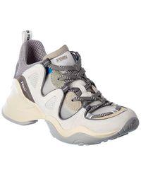 Fendi Suede-trim Sneaker - Gray