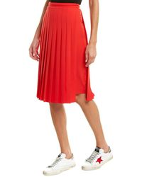 Burberry Farrah Pleated Midi-skirt - Red
