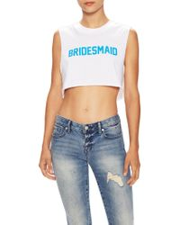 Private Party - Bridesmaid Sleeveless Crop Top - Lyst