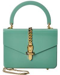 Gucci Sylvie 1969 Mini Plexiglas Top-handle Shoulder Bag - Green