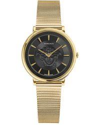 Versace Women's V-circle Medusa Watch - Metallic