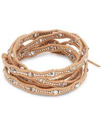 Chan Luu - Crystal & 18k Gold-plated Sterling Silver Bracelet - Lyst