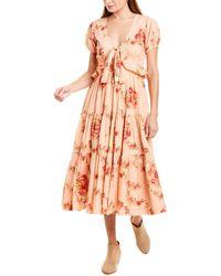 LoveShackFancy Carlton Midi Dress - Pink