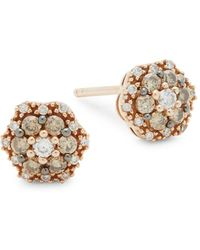 Le Vian - 14k Strawberry Gold Floral Stud Earrings - Lyst