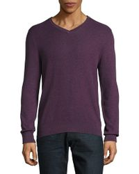 Vince Camuto - V-neck Cotton Pullover - Lyst