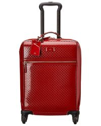 Gucci Red GG Imprime Suitcase