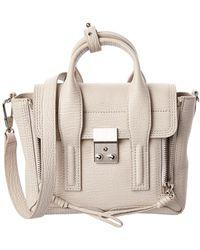 3.1 Phillip Lim Pashli Mini Leather Satchel - White