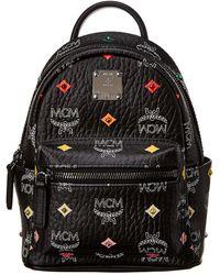 MCM Stark Bebe Boo Mini Studded Visetos Backpack - Black
