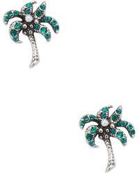 Marc Jacobs - Palm Tree Stud Earrings - Lyst