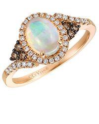 Le Vian ? 14k Rose Gold 0.88 Ct. Tw. Diamond & Neopolitan Opal? Ring - Metallic