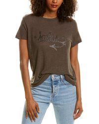 Zadig & Voltaire Azedi Strass Jormi Linen-blend T-shirt - Grey