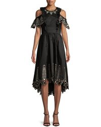 Temperley London Amour Cold-shoulder Dress - Black