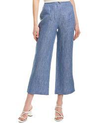 Mara Hoffman Striped Cropped Trousers - Blue