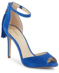 Botkier Anna Tasselled Suede Stiletto Sandals - Blue