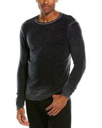 Autumn Cashmere Inked Cashmere Crewneck Sweater - Black