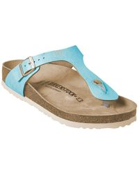 Birkenstock Gizeh Leather Sandal - Blue