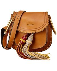 Chloé Hudson Fringe Mini Leather Shoulder Bag - Multicolor