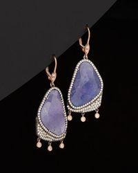 Meira T - 14k Rose Gold & Silver 23.12 Ct. Tw. Diamond & Tanzanite Drop Earrings - Lyst