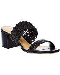 Alexandre Birman Lanny Leather Sandal - Black