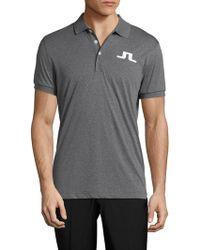 J.Lindeberg - Knit Polo Shirt - Lyst