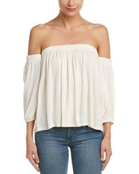 Ella Moss Off-shoulder Crinkle Top - White