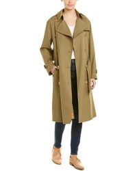 Burberry Relaxed Fit Tropical Gabardine Trench Coat - Green