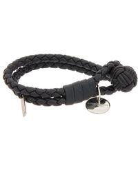 Bottega Veneta Intrecciato Nappa Leather Bracelet - Black