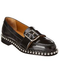 Chloé Buckle Studded Leather Loafer - Black