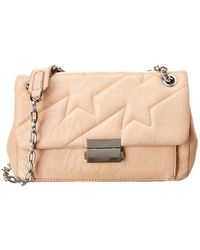 Zadig & Voltaire Ziggy Matelasse Leather Shoulder Bag - Pink