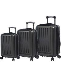 Mia Toro Moderno Lucido 3pc Hardside Luggage Set - Black