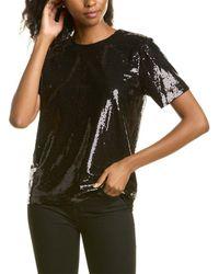 Halston Onyx Sequin Top - Black