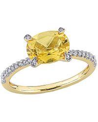 Rina Limor 10k 1.75 Ct. Tw. Diamond & Citrine Ring - Metallic