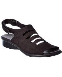 Arche Saorna Leather Sandal - Black