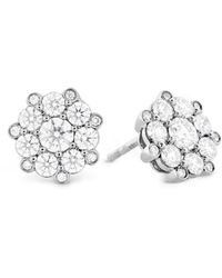 Hearts On Fire - 18k 1.13 Ct. Tw. Diamond Beloved Cluster Studs - Lyst