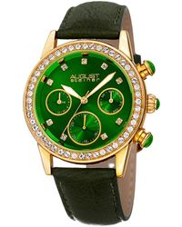 August Steiner Quartz Crystal Green Dial Ladies Watch